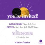 Digital invitation to Walnut Creek Church - Altoona Easter services