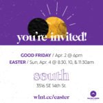 Digital invitation to Walnut Creek Church - South Easter services