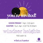 Digital invitation to Walnut Creek Church - Windsor Heights Easter services